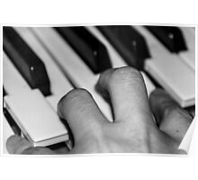 Hand and keyboard Poster
