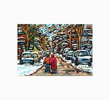 WINTER STROLL IN JANUARY VERDUN MONTREAL CITY STREETS Unisex T-Shirt