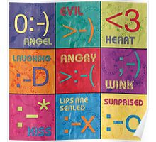 Emoticons Patch Poster