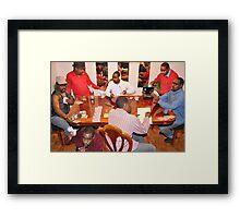 Poker Nght Framed Print