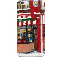 WAITING FOR THE BUS NEAR THE HOT DOG RESTAURANT iPhone Case/Skin