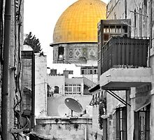 Old City - Dome of the rock by D. Abdel.