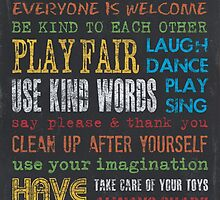 Playroom Rules by Debbie DeWitt