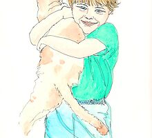 Boy with Cat by artworkbySARA