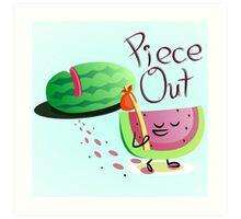 Piece Out Art Print
