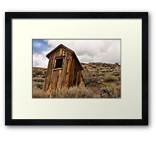 Careful Where You Sit Framed Print