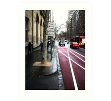 LEFT TURN MUST TURN LEFT buses excepted II Art Print