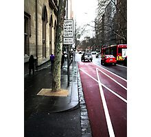 LEFT TURN MUST TURN LEFT buses excepted II Photographic Print