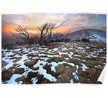 Mt Hotham Early Winter Sunset, Australia Poster