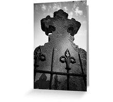 Grave Stone Greeting Card