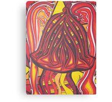 neon mushroom Canvas Print