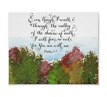 Valley of Death Psalm verse autumn trees painting by Melissa Goza