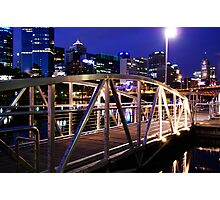 Melbourne footbridge Photographic Print