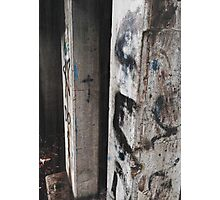 Glitch Grunge Graffiti Wall  Photographic Print