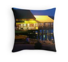 Fourth of July on the waterfront Throw Pillow