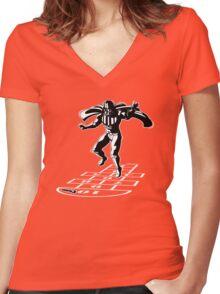 Darth Vader Hopscotch Women's Fitted V-Neck T-Shirt