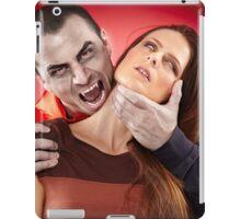 Vampire preparing to bite his victim iPad Case/Skin