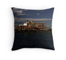 Film Set - Gold Coast Seaway Throw Pillow