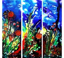 Eyes of Nature (triptych) by Ciska