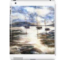 Sail Boats on The Mud Flats iPad Case/Skin