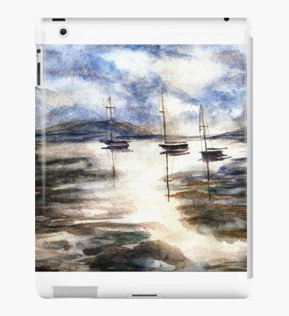 Sail Boats on The Mud Flats iPad Case/Skin