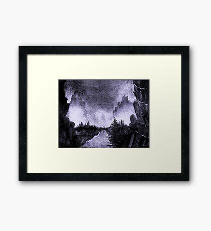 Sumi-e Ink 4 Framed Print