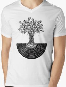 Music Roots Mens V-Neck T-Shirt