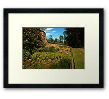 outside the walled garden Framed Print