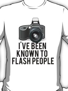Flash People Funny Photographer T-Shirt