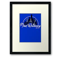 Malt Whiskey not Walt Disney Framed Print