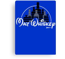 Malt Whiskey not Walt Disney Canvas Print