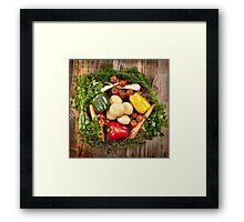 Vegetables and herbs nest arrangement Framed Print