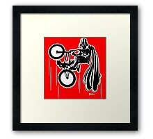 Darth Vader shredding on his BMX Framed Print