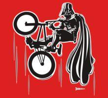 Darth Vader shredding on his BMX by RichWilkie