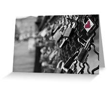Love Locks in Paris Greeting Card