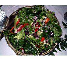 Yummy healthy salad... Photographic Print