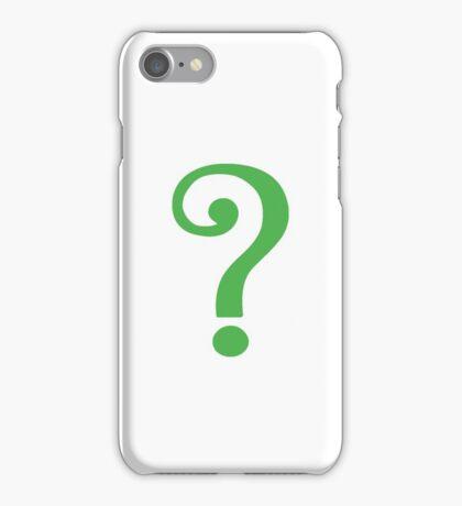 Riddler's Question Mark iPhone Case/Skin
