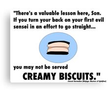 Garmadon's Creamy Biscuits Canvas Print