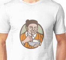 Granny Cook Mixing Bowl Linocut Unisex T-Shirt