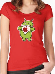 Super Apple Women's Fitted Scoop T-Shirt