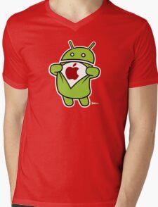Super Apple Mens V-Neck T-Shirt