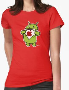 Super Apple Womens Fitted T-Shirt