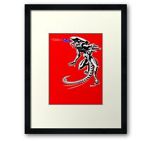 Alien Loves to Play Frisbee Framed Print