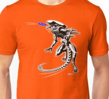 Alien Loves to Play Frisbee Unisex T-Shirt