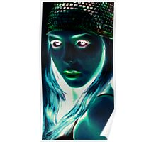 black light technique/inverted Poster
