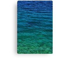 Blue Shining Waters Canvas Print