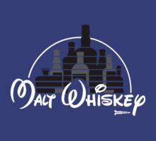 Malt Whiskey not Walt Disney T-Shirt