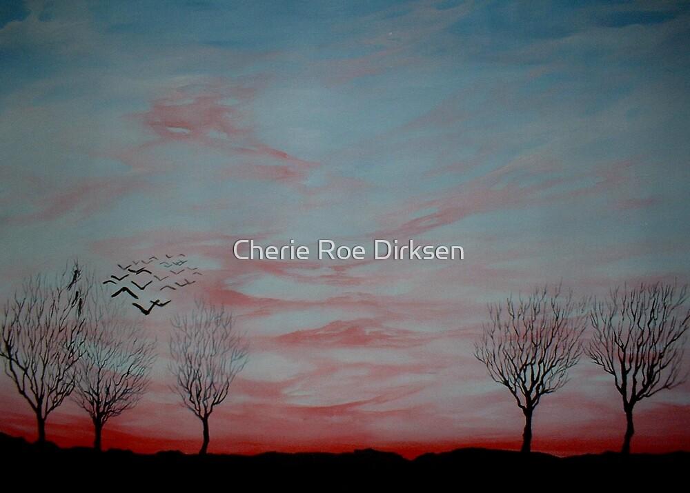 Winter Sunset by Cherie Roe Dirksen