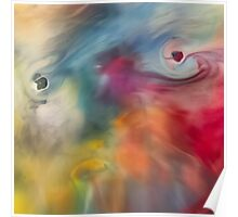 Colored watercolor abstraction painting Poster