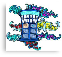 Tardis sounds off Canvas Print